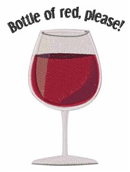 Bottle Of Red embroidery design