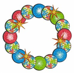 Ornament Wreath embroidery design
