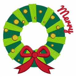 Merry Wreath embroidery design