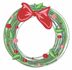 Xmas Wreath embroidery design