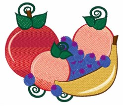 Fruit embroidery design