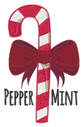 Peppermint embroidery design