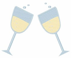 Champage Glasses embroidery design
