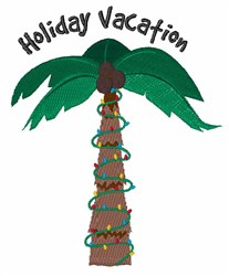 Holiday Vacation embroidery design