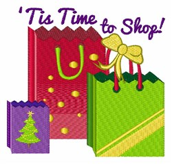 Time To Shop embroidery design
