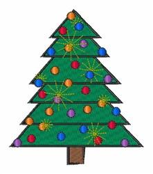 Holdiay Tree embroidery design