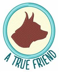 True Friend embroidery design