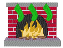 Christmas Fireplace embroidery design