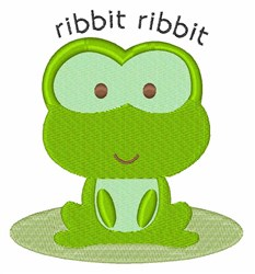 Ribbit Ribbit embroidery design