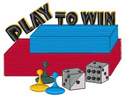 Play To Win embroidery design