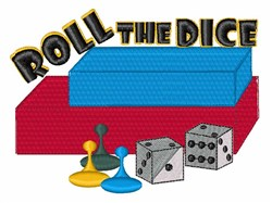 Roll The Dice embroidery design