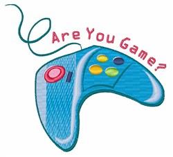 Are You Game embroidery design