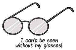 My Glasses embroidery design