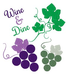 Wine & Dine embroidery design