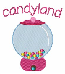 Candyland embroidery design