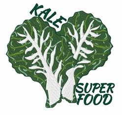 Kale Super Food embroidery design