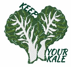 Keep Your Kale embroidery design