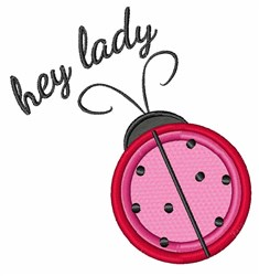 Hey Lady embroidery design