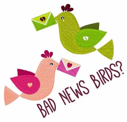 Bad News embroidery design