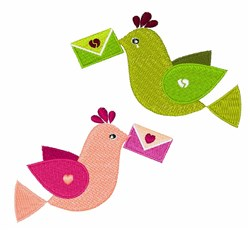Mail Birds embroidery design