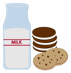 Cookies Milk embroidery design