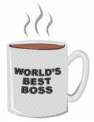 Worlds Best Boss embroidery design