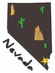 Nevada State embroidery design