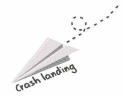 Crash Landing embroidery design
