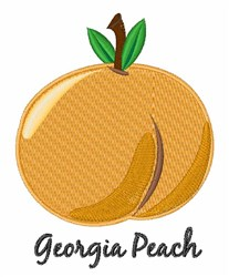 Georgia Peach embroidery design