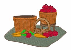 Bushels of Apples embroidery design
