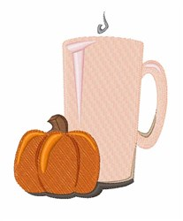 Pumpkin Drink embroidery design