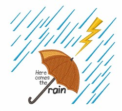 Here Comes Rain embroidery design