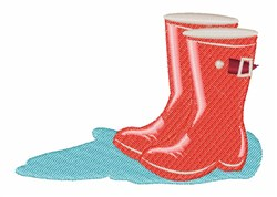 Rainboots embroidery design