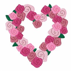 Rose Wreath embroidery design