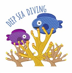 Deep Sea Diving embroidery design