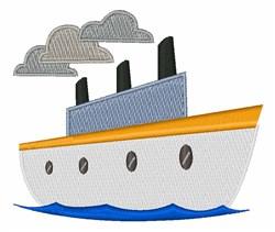 Tug Boat embroidery design