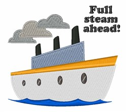 Full Steam Ahead embroidery design