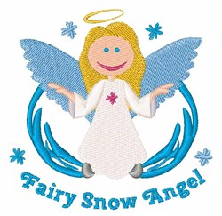 Fairy Snow Angel embroidery design