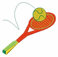 Tennis Racket embroidery design
