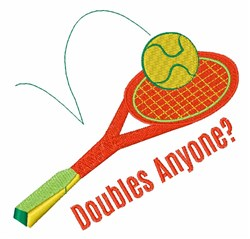 Doubles Anyone? embroidery design