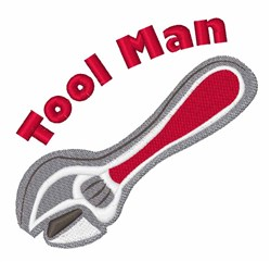 Tool Man embroidery design