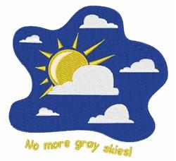 No Gray embroidery design