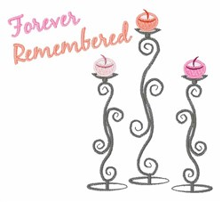Forever Remembered embroidery design