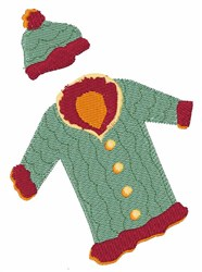 Winter Coat embroidery design