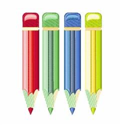 Colored Pencils embroidery design