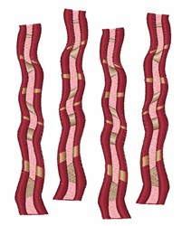 Bacon Slices embroidery design