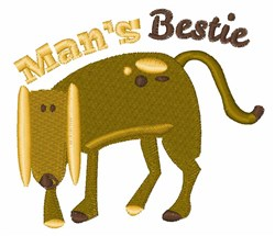 Mans Bestie embroidery design