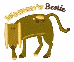 Womans Bestie embroidery design