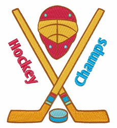 Hockey Champs embroidery design