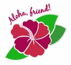 Aloha Friend embroidery design